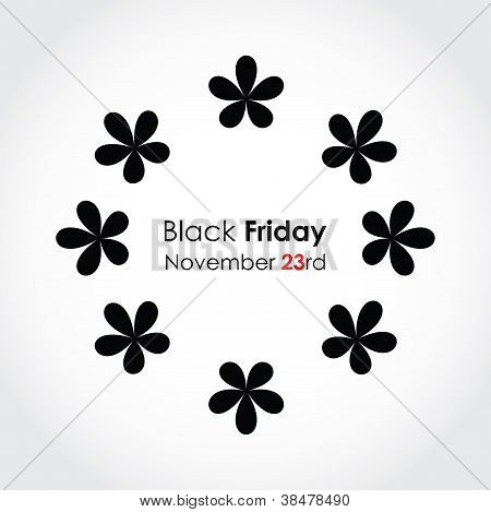 Special Black Friday Background With Floral Design