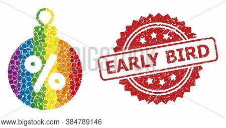 Christmas Discount Ball Collage Icon Of Filled Circle Items In Different Sizes And Lgbt Colorful Col