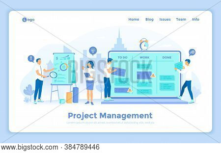 Project Management, Application Service For Corporate Managing, Team Control, Manager Work. Business