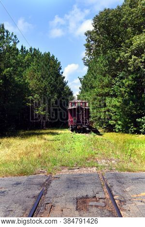 Caboose At The Defunct Reader Railroad