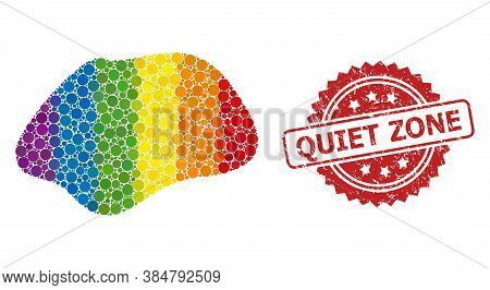 Spot Simple Collage Icon Of Round Dots In Different Sizes And Lgbt Multicolored Color Tones, And Qui