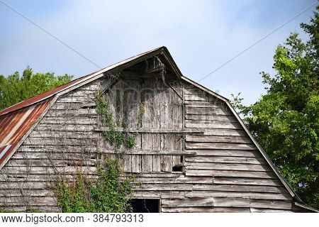 Boarded Up Loft On Old Barn