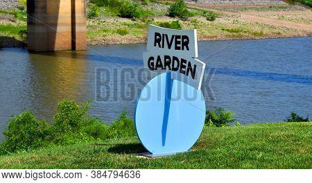 Memphis River Garden Sign