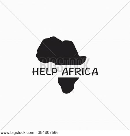 Help Africa Logo Vector, Philanthropy, Poverty Peace