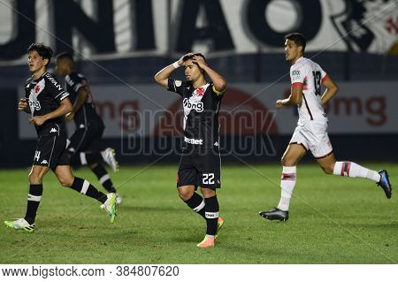 Rio, Brazil - September 10, 2020: Yago Pikachu Player In Match Between Vasco 1 And 2 Atletico-go By