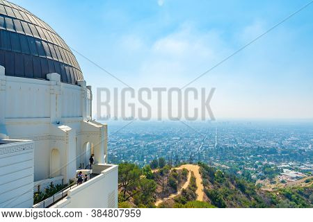 Los Angeles, California - October 09 2019: Griffith Observatory In Los Angeles, California, Famous T