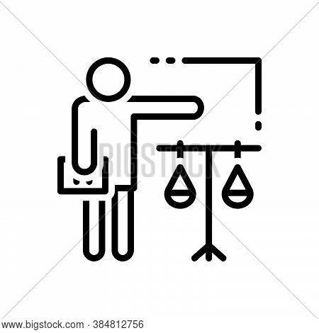 Black Line Icon For Attorney Lawyer Counsel Legal-practitioner Advocate Judge Solicitor Justice Equa