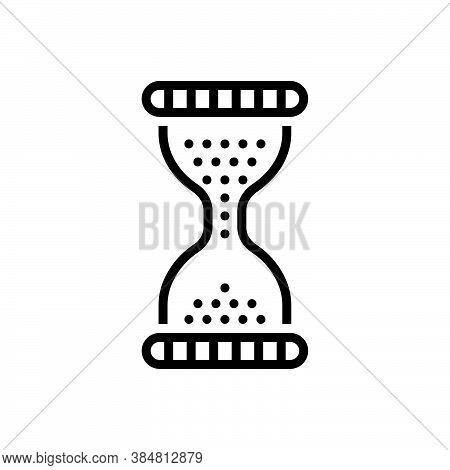 Black Line Icon For Era  Age Epoch Period Eon Phase Days Sand-clock Timer
