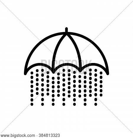 Black Line Icon For Constant Constant Rain Heavy-rain Consistent Continual Stable Stagnant Still