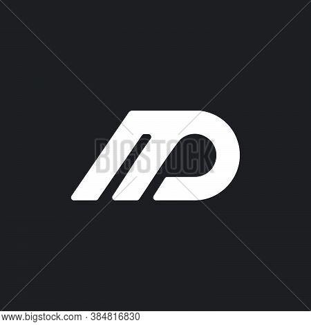 Letter Md Simple Geometric Line Symbol Logo Vector