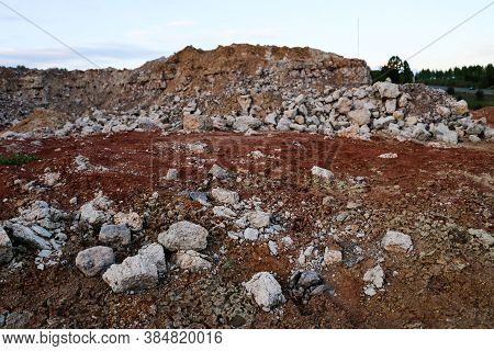 Textures Of Various Clay Layers Underground In  Clay Quarry After  Geological Study Of  Soil. Colore