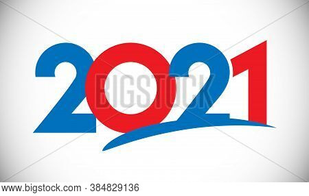 2021 A Happy New Year Congrats Concept. Classic Logotype. Abstract Isolated Graphic Design Template.