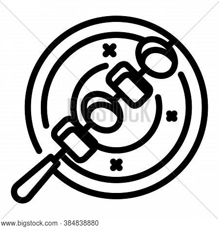 Greek Bbq Icon. Outline Greek Bbq Vector Icon For Web Design Isolated On White Background
