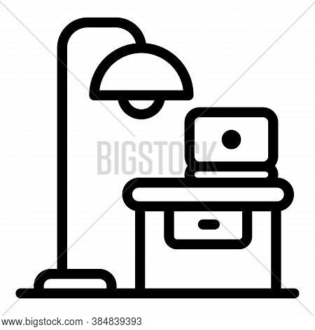 Quiet Space Workplace Icon. Outline Quiet Space Workplace Vector Icon For Web Design Isolated On Whi