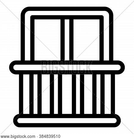 Quiet Spaces Balcony Icon. Outline Quiet Spaces Balcony Vector Icon For Web Design Isolated On White