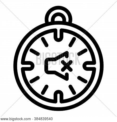 Quiet Spaces Stopwatch Icon. Outline Quiet Spaces Stopwatch Vector Icon For Web Design Isolated On W
