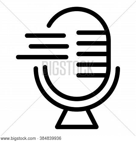 Podcast Education Icon. Outline Podcast Education Vector Icon For Web Design Isolated On White Backg