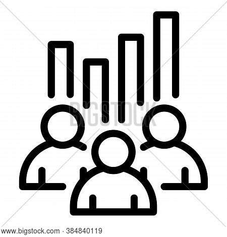 Outsource Teamwork Icon. Outline Outsource Teamwork Vector Icon For Web Design Isolated On White Bac