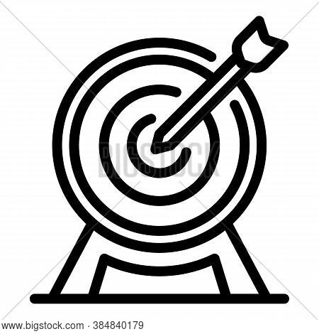 Outsource Target Icon. Outline Outsource Target Vector Icon For Web Design Isolated On White Backgro