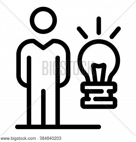 Outsource New Idea Icon. Outline Outsource New Idea Vector Icon For Web Design Isolated On White Bac