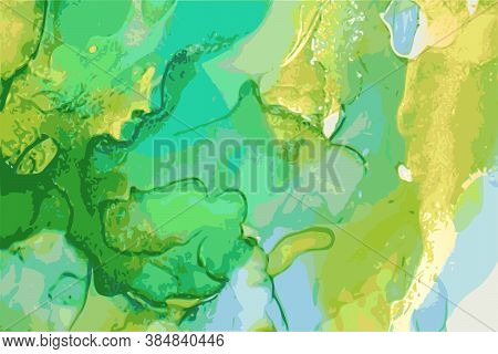 Luxury Sky Blue, Green, Emerald Stone Marble Texture