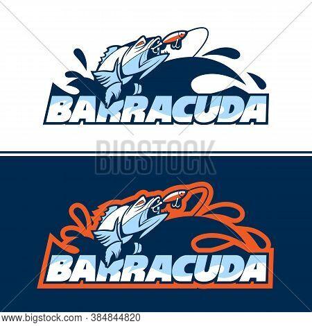 Dynamic Fish Logo In Pursuit Of Bait.