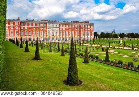 Hampton Court Palace And Gardens, London, Uk - April 2019
