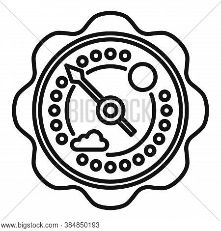 Climate Barometer Icon. Outline Climate Barometer Vector Icon For Web Design Isolated On White Backg