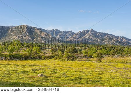 Typical Landscape Of The Valleys That Surround The Central Iberian Massif, Sierra De Guadarrama. Mad