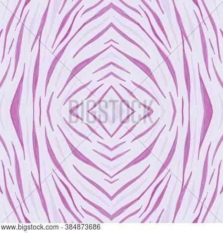 Pink African Print. Watercolour Animal Fur Pattern. White Fashion Tiger Wallpaper. Zoo Stripes Fabri