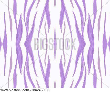 Tribal Background. Fashion Ethnic Banner. Watercolor Zebra Stripes. Wildlife Fabric Design. Seamless