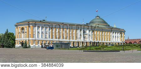 Kremlin Senate Palace (russian President Residence) In Moscow, Russia - June 2019