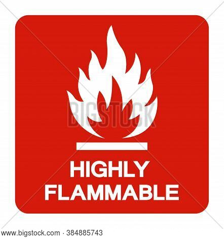 Highly Flammable Symbol Sign ,vector Illustration, Isolate On White Background Label .eps10