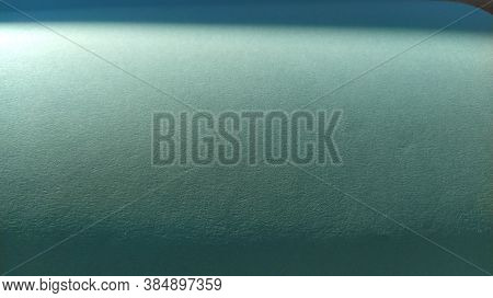A Sheet Of Light Green Paper With Vignetting At The Bottom. Calm Green With Fine Paper Texture. Soot