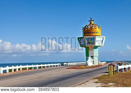 Jardines Del Rey, Cuba - December 24, 2016: The Couseway Entrance To The Jardines Del Rey, An Archip
