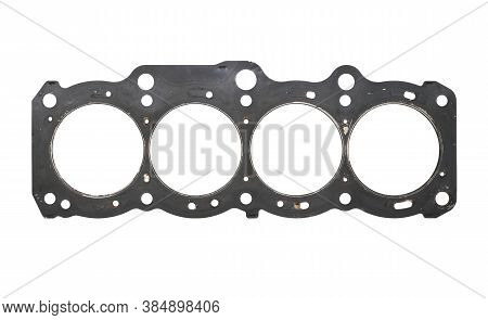 Cylinder Head Gasket (with Clipping Path) Isolated On White Background