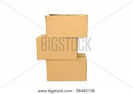 Cardboard Boxes Arranged