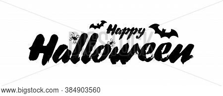 Happy Halloween Vector Text. Halloween Lettering. Happy Halloween Illustration. Halloween. Happy Hal