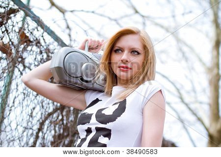 Girl With Tape Recorder