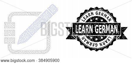 Learn German Unclean Seal And Vector Edit Records Mesh Structure. Black Seal Includes Learn German T