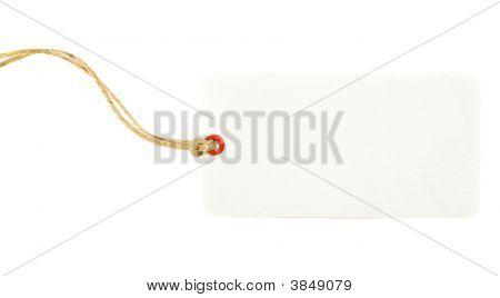 White Price Tag
