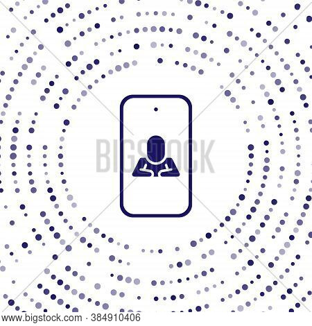 Blue Online Psychological Counseling Distance Icon Isolated On White Background. Psychotherapy, Psyc