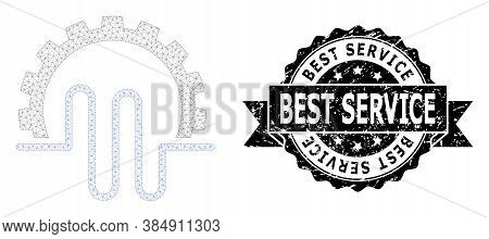 Best Service Unclean Seal Imitation And Vector Pipe Service Gear Mesh Model. Black Seal Contains Bes