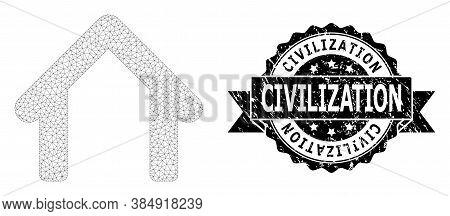 Civilization Unclean Seal And Vector Garage Mesh Model. Black Seal Includes Civilization Caption Ins