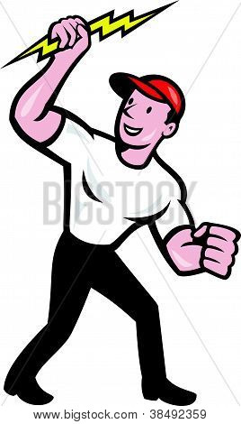 Electrician Construction Worker Cartoon
