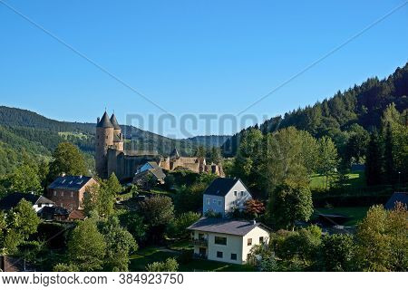 Bertradaburg Or Burg Muerlenbach, A Ruined Hill Castle At Murlenbach, Rhineland-palatinate, Germany,