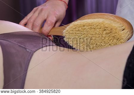 Thigh Massage. Anti-cellulite Massage Of Female Buttocks And Thighs. Massage Tool. Spa Procedure. Sk