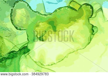 Blue, Green, And Emerald Geode Stone Background With Texture Of Marble