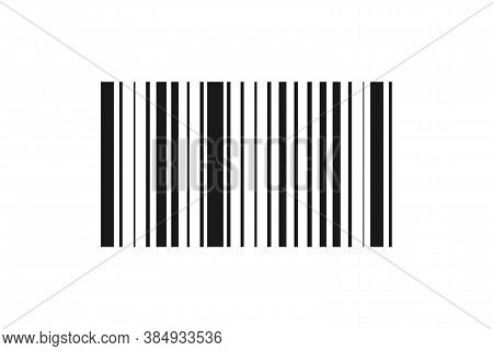 Barcode Identification Label. Product Label With Striped Bar. Isolated Scanner Symbol. Realistic Pro
