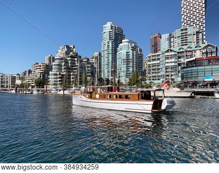 View from the water in False creek, Vancouver, Canada.